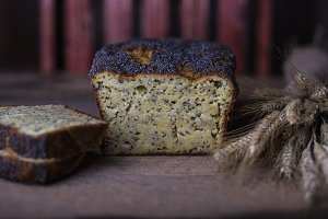 Fresh homemade poppy seed bread