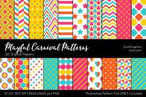 Playful Carnival Digital Papers