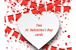 Two St. Valentine's Day cards