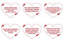 Nine Love Quotes. Set 1/26