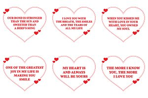 Nine Love Quotes. Set 3/26