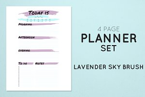 Planner Set - Lavender Sky Brush
