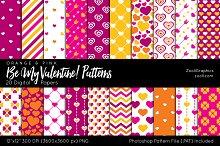 Be My Valentine Digital Papers
