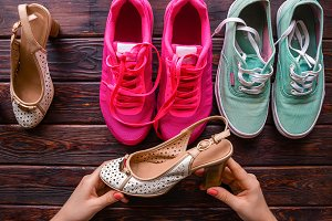 women's shoes and running shoes
