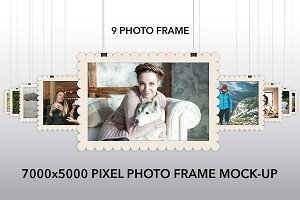9 Photo Frame Mock-Up