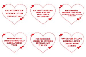 Nine Love Quotes. Set 2/26