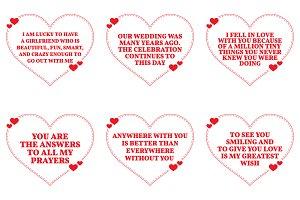 Nine Love Quotes. Set 6/26