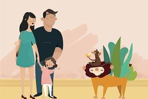 Family in ZOO