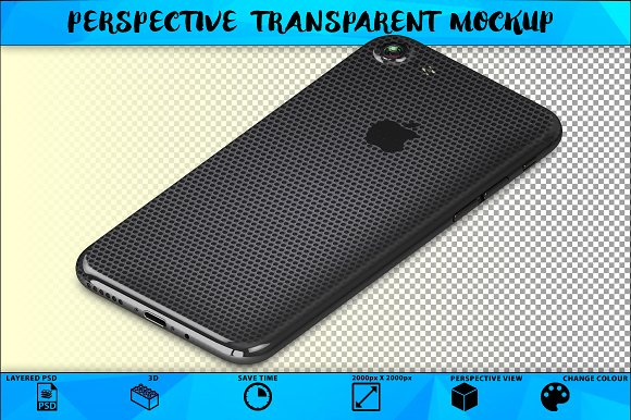IPhone 7 Perspective Mockup