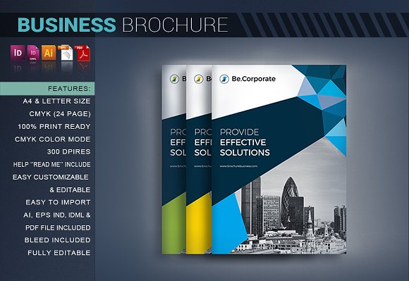 corporate brochure brochure templates creative market