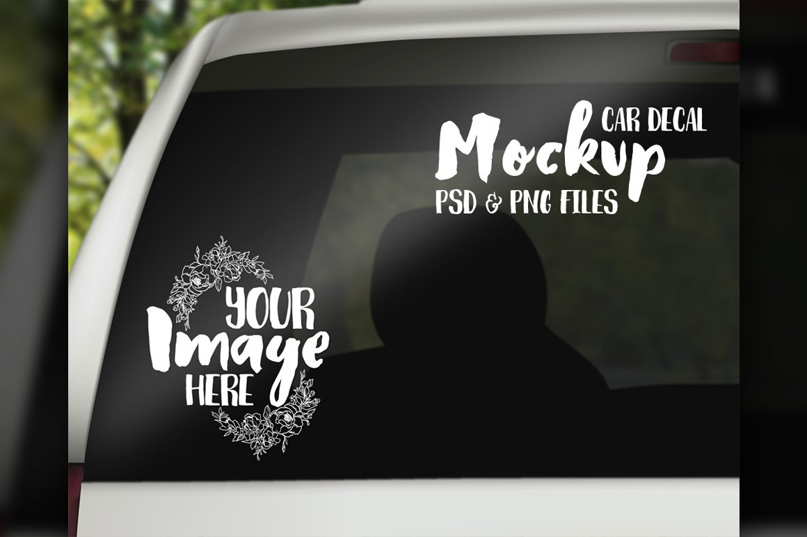 Car decal mockup