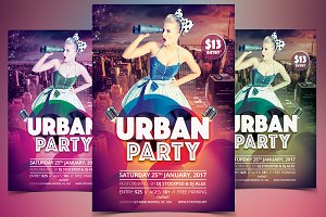 Urban Party - PSD Flyer Template