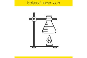Chemical reaction icon. Vector