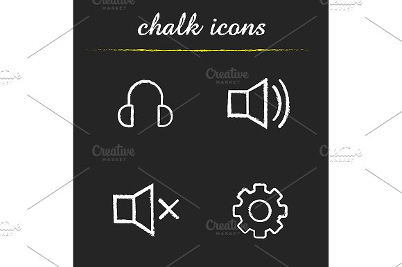 Music Player Menu 4 Icons Vector