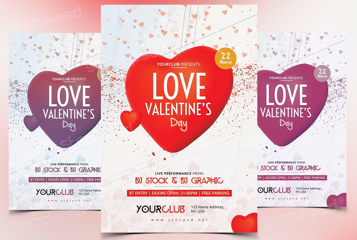 Valentines Day Free Psd Flyer Flyer Templates Creative Market