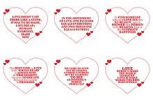 Nine Love Quotes. Set 13/26