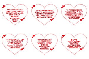 Nine Love Quotes. Set 13/26