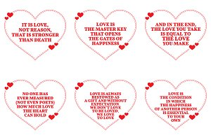 Nine Love Quotes. Set 14/26
