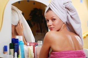 woman in towel