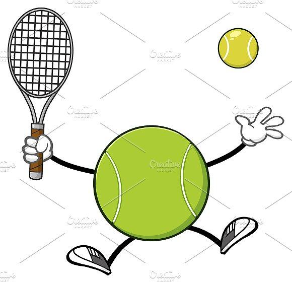 Tennis Ball Faceless Player