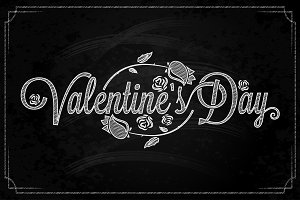 Valentines Day Lettering Background.