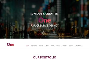 One - Onepage Creative Portfolio