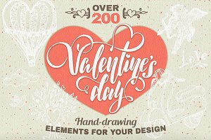 *200* Valentine's day elements