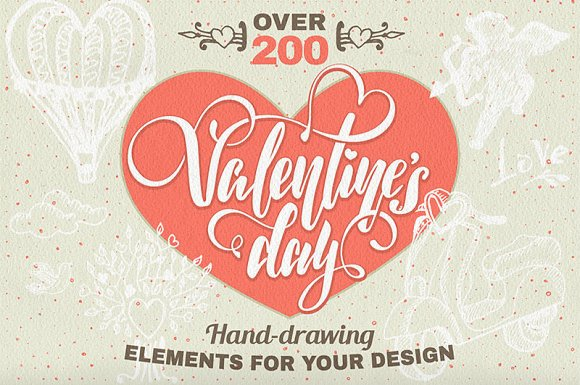 200 Valentine S Day Elements Illustrations Creative Market