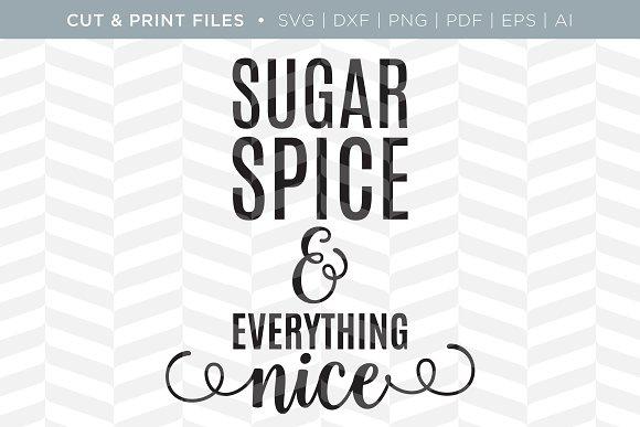Sugar Spice SVG Cut Print Files