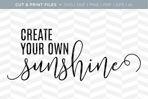 Sunshine SVG Cut/Print Files