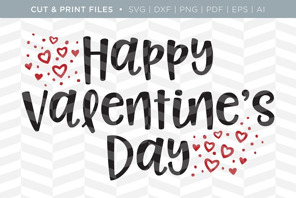 Valentines SVG Cut Print Files
