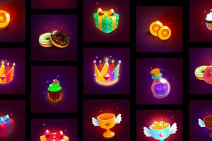 Colorful Game Icons