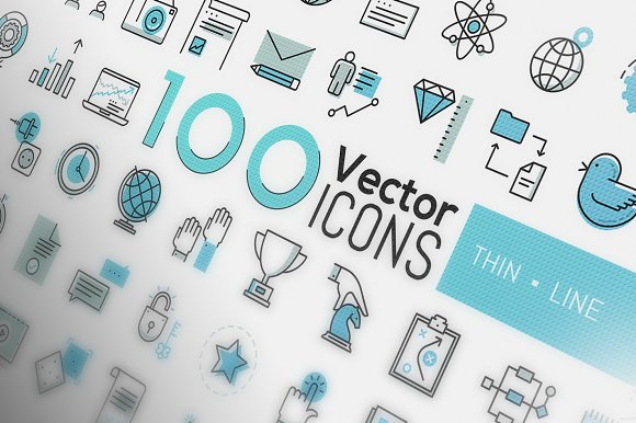 400 Thin Line Vector Icons