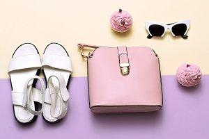 woman accessories set.
