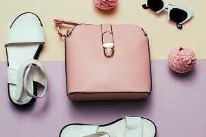 Fashion Accessories. Pink bag