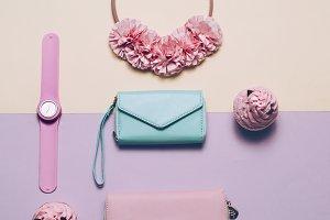 Fashion Accessories. Wallet, watch