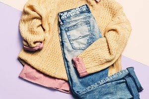 Fashion Clothes. Pink shirt,