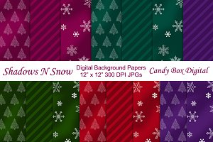 Shadows and Snow Background Papers