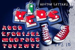 Vector keds alphabet
