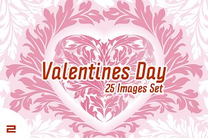 Set of Valentine's Day Images