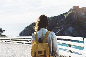 Woman admiring the scenery