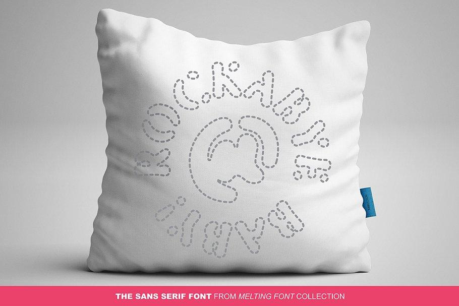 Best CandyMelt Sans Serif Font Vector