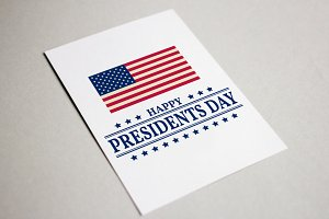 Presidents Day Greeting Card