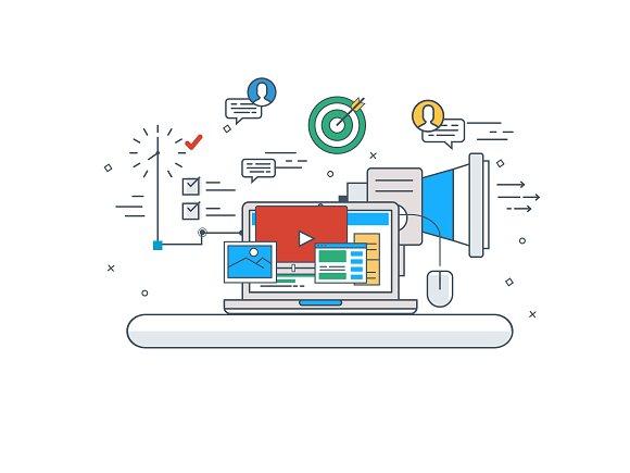 Marketing Concept Vector Design