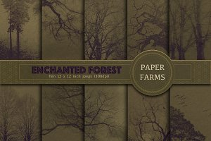 Enchanted forest digital paper pack