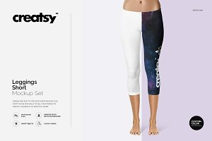 Leggings Short Mockup Set