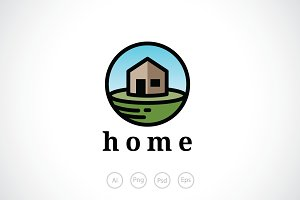 House in a Sphere Logo Template