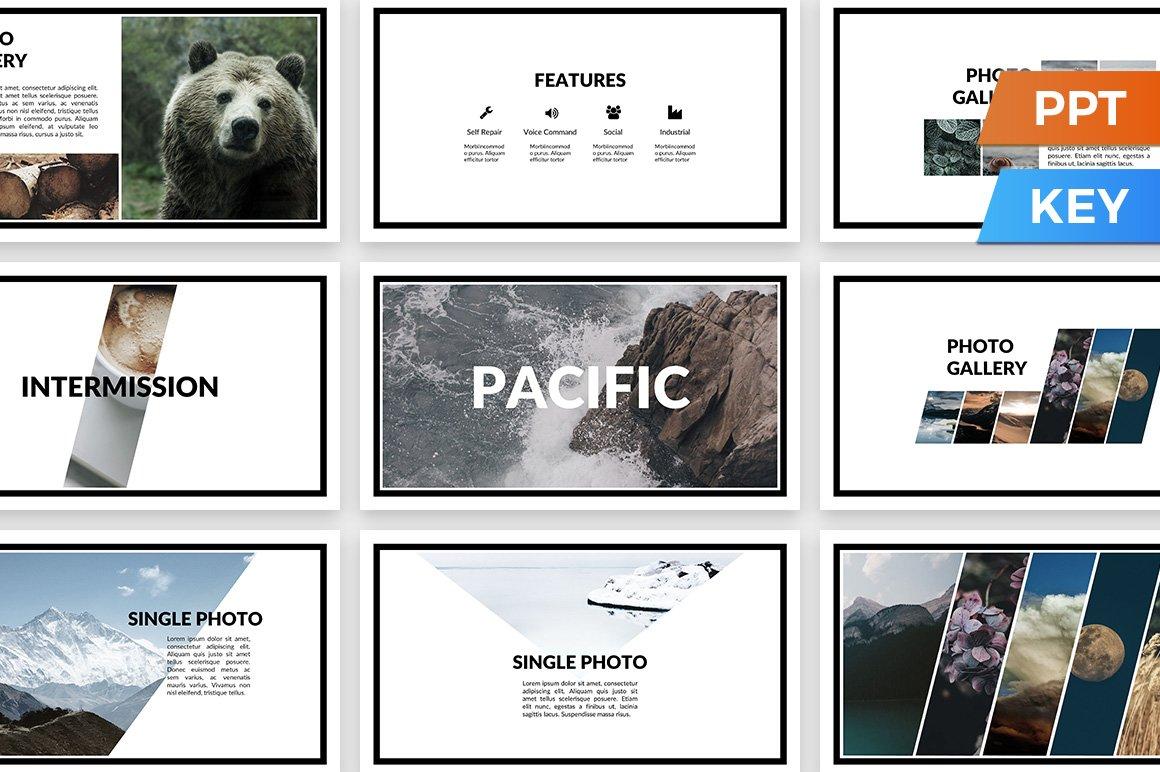 pacific presentation template presentation templates creative market. Black Bedroom Furniture Sets. Home Design Ideas