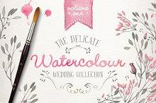 Watercolor wedding collection vol 1