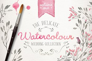 Watercolor wedding collection vol 1